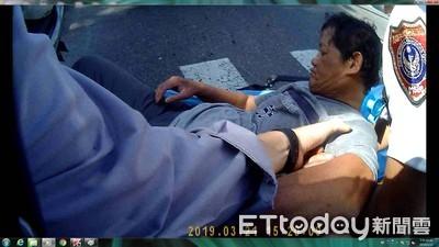 他閉眼全身抽搐 暖警一把抱起陪等救護車