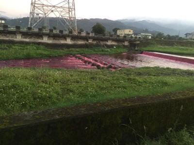 宜縣府持續追蹤檢驗行健溪污染
