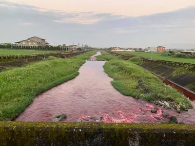 宜蘭行健溪被污染成紅河 找到元凶