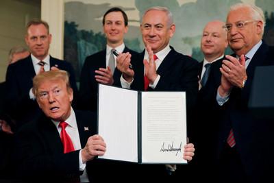 川普簽命令 承認戈蘭高地屬以色列