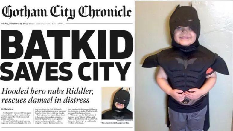 5歲癌童想當蝙蝠俠 萬人串通「舊金山變高譚市」 如今戰勝病魔成真英雄