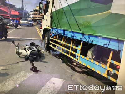 貨車右轉擦撞機車 騎士慘摔重傷