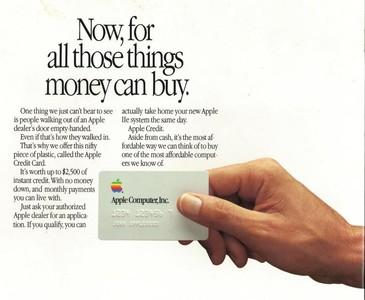 蘋果早在1986年就曾發行過信用卡