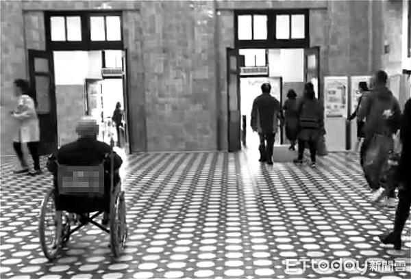 安樂死專題,台大醫院,老人,輪椅,高齡化社會,長者,醫院。(圖/記者陳宛貞攝)