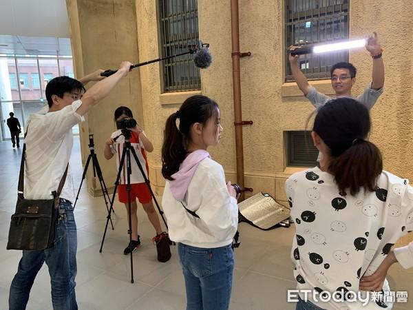▲▼台南小學生走進南美館拍競賽微電影。(圖/長興國小提供)
