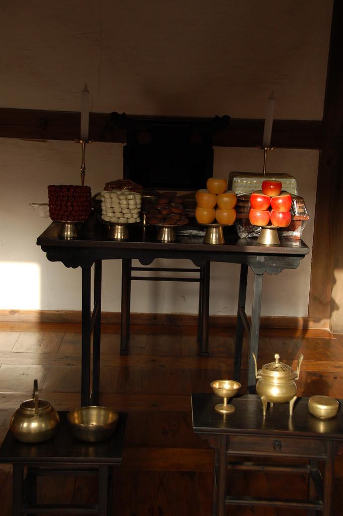 ▲▼朝鮮傳統祭祀桌(圖/翻攝自維基百科)