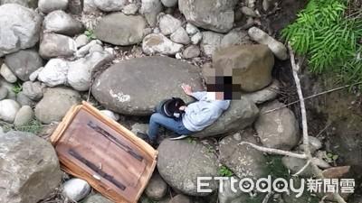 男大生墜15米溪谷 奇蹟掉廢棄床墊檢命