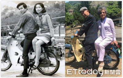 合照「黑白→彩色」 老夫妻情牽52年