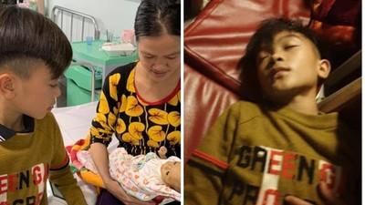 夜騎175公里「看早產弟一眼」!13歲童累倒摔車磨破鞋,抵達醫院睡著了