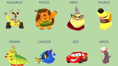 皮克斯公開「12星座動畫代表角色」 憂憂是天蠍、多莉是巨蟹!