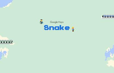 經典再現!Google Maps貪食蛇小遊戲