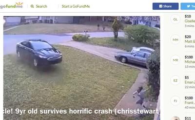 家門口遭飛車撞上 女童撞破牆重傷