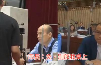 議員遞上媽媽的一封信 韓國瑜:別放在我桌上
