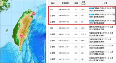 氣象局:2天內恐還有規模5餘震