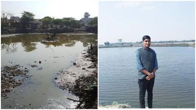 看不慣家鄉池塘積滿垃圾 印度男復甦12座死水池 前後差異驚呆村民