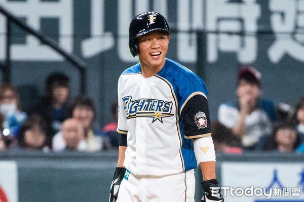 火腿得分都靠王柏融 跑回首分、棒打阪神終結者送回第2分
