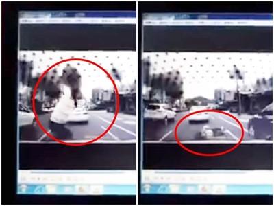 驚悚畫面曝光!三寶穿越馬路...下秒被撞飛