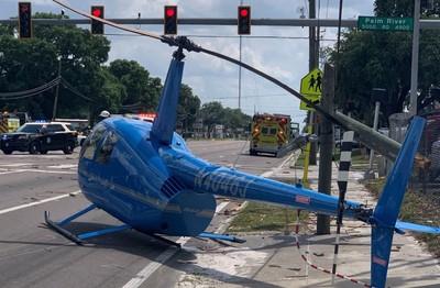 直升機螺旋槳噴出砸車 乘客當場死亡