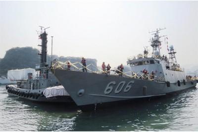 新江艦成首艘奈米漆塗裝錦江級艦