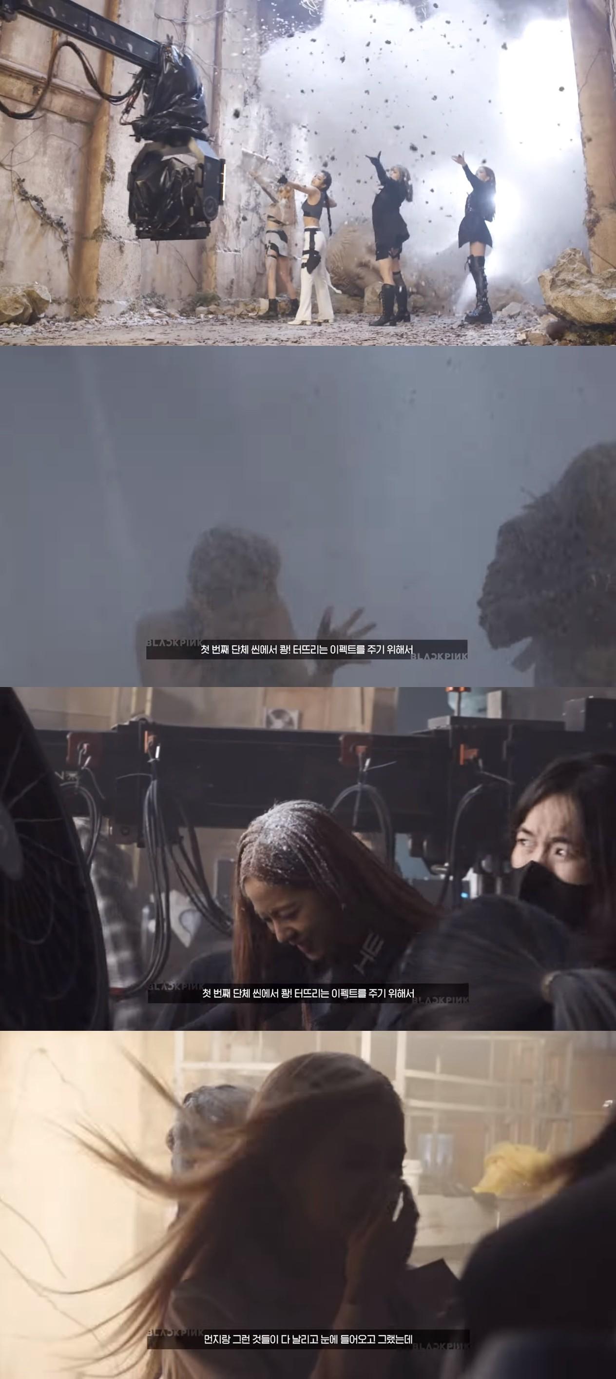 ▲BLACKPINK MV中帥氣爆破場景。(圖/翻攝自BLACKPINK YOUTUBE)