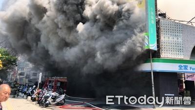 即/台南市鬧市火警 濃煙駭人「整棟大樓不見」