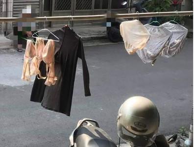 鄰居嬤每天內褲布拉甲曬他家門口