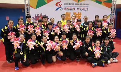 淡江桌球國女、高女組雙連霸