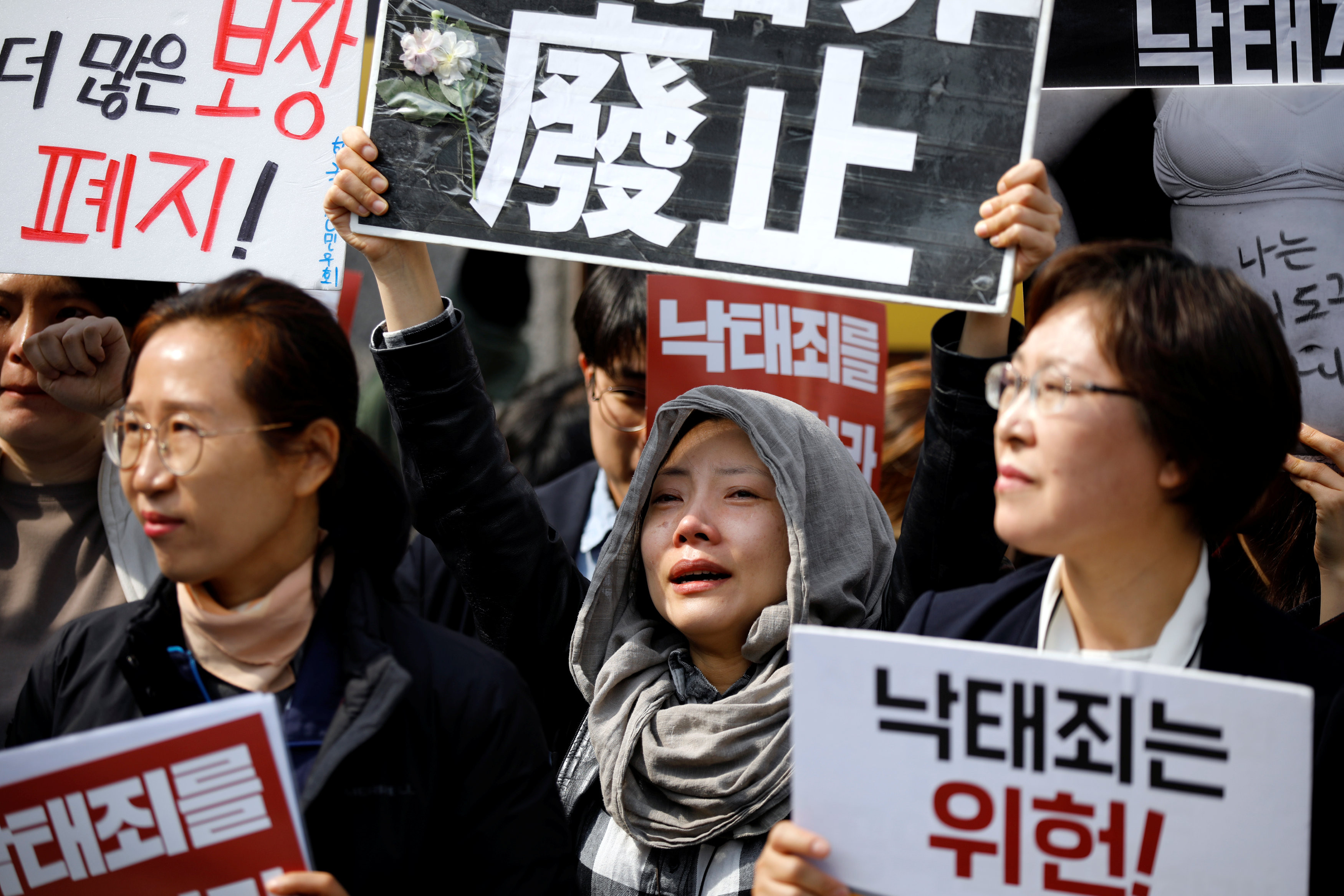 ▲▼ 南韓憲法法庭11日裁定墮胎禁令違憲。(圖/路透)