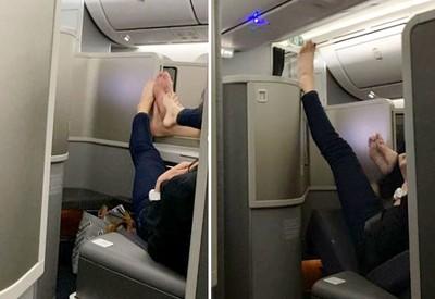 頭等艙男女裸腳調情 乘客被腥味襲擊