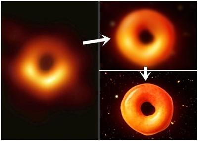 網友惡搞 首張黑洞照變甜甜圈!