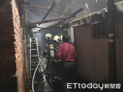 抽根菸「轟然巨響」 瓦斯外洩氣爆燒3屋
