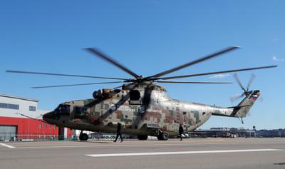 米-26T2V直升機試飛 全自動飛行、降落