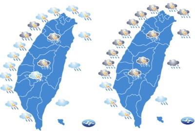 今全台有雨!周二較強鋒面通過各地雷雨