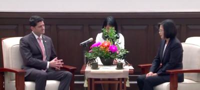 影/蔡英文接見美國眾議院前議長萊恩