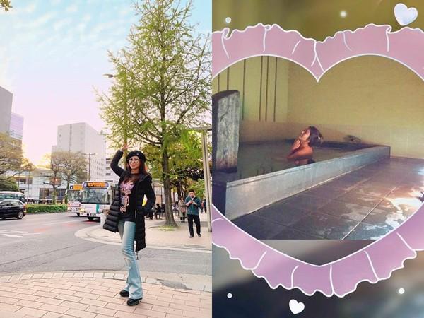 ▲▼陳美鳳日本旅行摔倒!錄影延期。(圖/翻攝自臉書/陳美鳳)