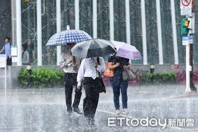 雨勢升級!新竹以南8縣市豪大雨特報