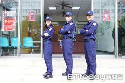 中警局「甜美女警」:新制服真棒