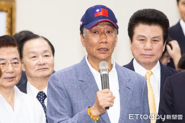 ▲▼郭台銘宣佈參加國民黨內總統初選。(圖/記者季相儒攝)