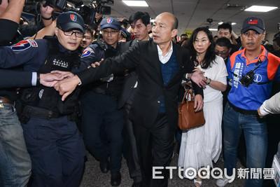韓粉太過熱情爆推擠 韓國瑜:都不要動
