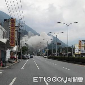 花蓮震一下!亞泥廠外濃煙密佈 公司確認機具、人員皆無損傷