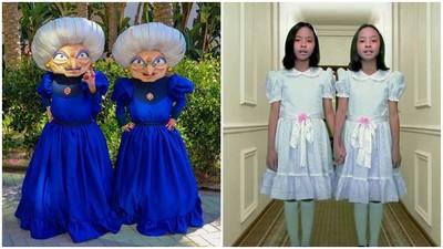 11歲雙胞姊妹大玩Cosplay 扮《鬼店》雙胞胎雞皮疙瘩都來啦