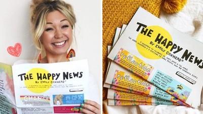 受夠負面新聞洗腦!24歲女創立「媒體界烏托邦」把全球快樂事印成報紙