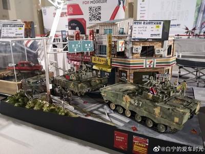 共軍坦克入侵台北!北京模型展作品掀論戰