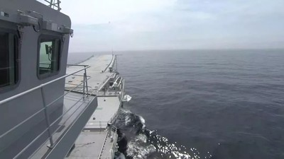 陸首艘國產航母第五次海試畫面曝光