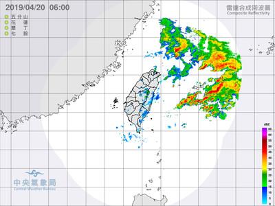 北台灣鋒面到 傍晚降雨