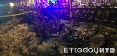 烏日高鐵停車場大火11輛機車全毀