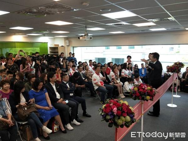 ▲▼ 東森天美仕台北營業點開幕剪綵儀式。(圖/記者張家瑜攝)