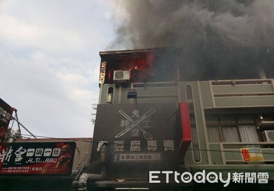 台南新營區商店火警 3樓頂樓鐵厝無人傷亡