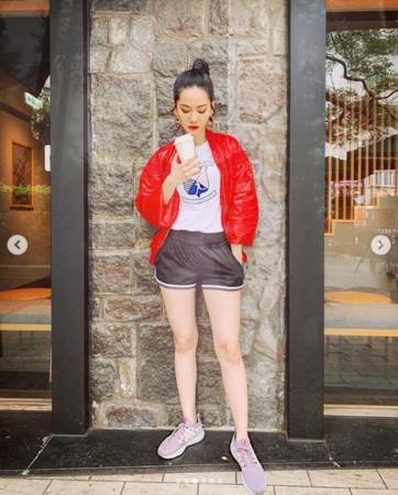 ▲▼曾之喬「真理褲」路跑被拍!(圖/翻攝自Instagram/chiaochiaotzeng)