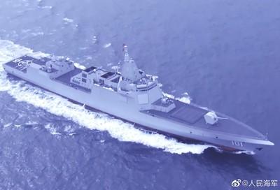 陸萬噸級驅逐艦航行畫面首曝光